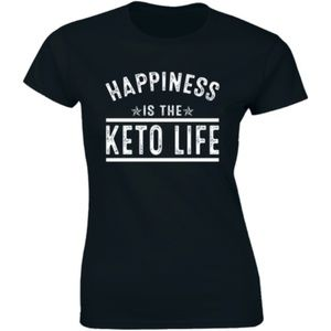 Happiness Is The Keto Life Saying Slogan T-shirt